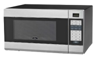 Oster - 1.1 Cu. Ft. Mid-Size Microwave - Stainless-Steel/Black