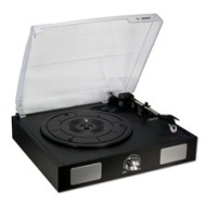 Vibe Sound USB Turntable With Stereo Speakers for Recording Vinyl Albums onto PCs in MP3 Format