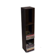 Brown Leather Look and Feel Tall CD Unit ( Holds up to 57 CDs )
