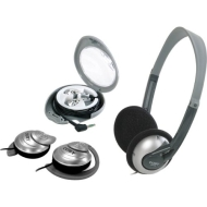 Lightweight Headphones, Ear-Clip Headphones And Earbud Combo Pack-T44438