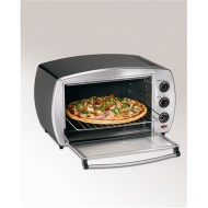 Hamilton Beach 31180 6 Slice Toaster Oven, Black/Chrome