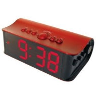 Inovalley Radio Alarm Clock - Red