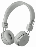 KitSound Manhattan Casque/Ecouteurs Audio Bluetooth avec Micro pour iPad 2/3/4/Mini, iPod Touch, iPhone 3G/3GS/4/4S/5/5S/5C - Blanc