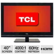 TCL L40FHDM12 40 Class LCD HDTV - 1080p 1920 x 1080 16:9 60Hz 8ms 4000:1 2 Year Warranty HDMI Refurbished