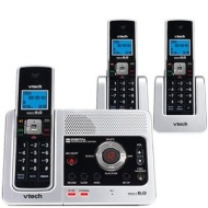 Vtech LS6126-3 3 DECT 6.0 Three Handset Cordless Phone System with Digital Answering Device