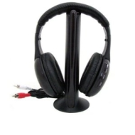 BG NEW 5 IN 1 WIRELESS FM HEADPHONE EARPHONE FOR MP3 TV PC