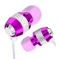 Pink iSmart Metal Replacement In-Ear Metal 3.5mm Stereo EarBud EarPhones HeadPhones Headset for all Apple iPhone, iPod Generation Shuffle Nano Mini V