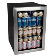 EdgeStar 84 Can Beverage Cooler - Stainless Steel