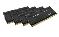 Kingston HyperX Predator Kit Memorie DDR4 da 16 GB, 4x4 GB, PC 3000, Nero
