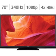 "Sharp AQUOS Quattron 70"" Class 3D 1080p 240Hz AquoMotion 480 LED Smart 3D TV"