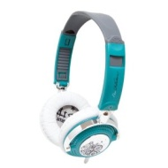 iFrogz EP-NP-1120 EarPollution Nerve Pipe Headphones - Swirl (Teal/Chrome)