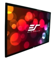 "Elite Screens 135 Inch 16:9 SableFrame High Gain Fixed Projector Screen (66""Hx117""W)"