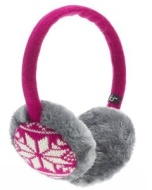 KitSound Audio Earmuffs for iPod, iPhone, iPad and MP3 Player - Pink Fair Isle
