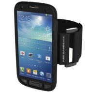 Mediabridge Armband for Samsung Galaxy S4 - Includes Front Screen Protector (Black)
