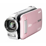 Sanyo VPC-GH1EXP-B Xacti GH1 Full HD Dual Camcorder with 14M Photos and HDMI - Pink