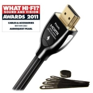 "Audioquest ""Award Winning"" Pearl Hdmi 1.5m - High Speed With Ethernet - FREE Pack Of Fisual Chunky Cable Ties Worth £3.99"