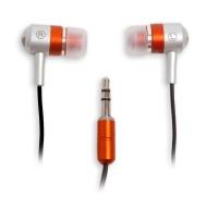 iFrogz EarPollution Metal Drum In-Ear Headphones - Silver/Orange