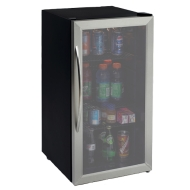 Avanti 3.2 CF Outdoor Glass Door Refrigerator - Stainless