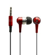Sentry HO484 Metalix In-Earbuds with Case, Red