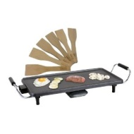 Designer Habitat - Electric Teppanyaki Style Barbecue Table Grill Griddle 1800 Watts including 6 spatulas