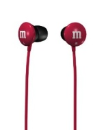 Maxell 190550 M&M'S Lightweight Earbuds, Red