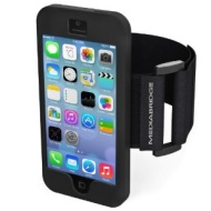 Mediabridge Armband for iPhone 5 / iPhone 5S - Includes Front and Back Screen Protector (Black)