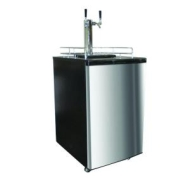 Nostalgia Electrics KRS-6100SS Kegorator Double Tap Beer Keg Fridge, Stainless Steel