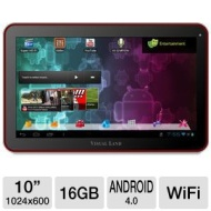 "Visual Land Prestige 10 Android 4.0 10"" Tablet with WiFi, Bluetooth, 16GB"