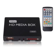 JUSTOP Mini HD Media Player, Full HD 1080P HDMI Out, 5.1 Surround Sound Out - Play Movies/Photos/Music/... Files directly on TV From USB Hard Drive/Fl