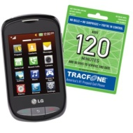 LG Touchscreen Phone and 3 Months TracFone Service