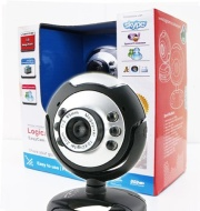 Logicam Webcam- USB Webcam, Built-in Microphone, Plug & Play Webcam, 6 LED lights, Plug and Play USB Web Camera which does not need any driver - Ideal