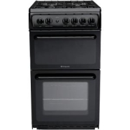 HOTPOINT HAG51K Gas Cooker - Black