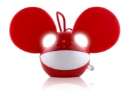 KitSound Deadmau5 Speaker Compatible with iPhone, iPod, iPad Mini and MP3 Player - Red