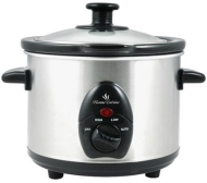 Lloytron E821 Automatic 1.5L Mini Slow Food Cooker 120W- Ceramic White