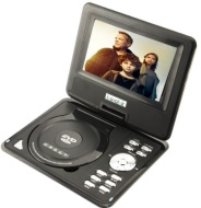 "BuyInSummer Brand New 7.5"" Swivel Portable DVD Player CD+SD+MS+MMC+USB+TV+MP3/4+Game"