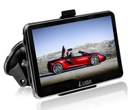 "Lugii SAT NAV /Car GPS Navigation System / Multimedia Player/ FM transmitter /with UK and Europe Maps (7.0"" Smooth Black)"