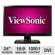 "Viewsonic LED LCD VA2406m-LED 23.6"" Black Full HD"