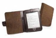 Etui naturel Tuff-Luv en chanvre pour Amazon Kindle Touch / Paperwhite Style-livre - marron mocha