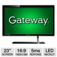 Gateway FHD2303L BID 23 LED Monitor - 1080p, 1920x1080, 16:9, 12000000:1 Dynamic, VGA, DVI, HDMI (Refurbished)