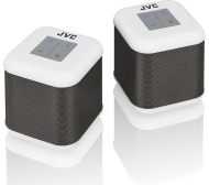 JVC SP-AT3-W Portable Bluetooth Wireless Speakers - Set of 2, White