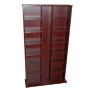 ST LAURENCE - CD DVD Blu-ray Media Storage Shelves - Mahogany
