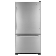 Whirlpool - 21.9 Cu. Ft. Frost-Free Bottom-Mount Refrigerator - Stainless-Steel