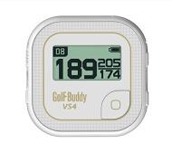 GolfBuddy VS4 Golf GPS, White/Gold