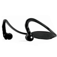 Black Sports Bluetooth Headphones with Music Controls and Built-in Mic
