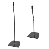 Duronic SPS2619 Universal Home Cinema Surround Glass Speaker Stands - Height Adjustable - Black - Set of 2