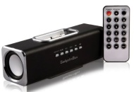GadgetinBox™ Rechargeable Music Angel Docking Speakers For Apple iPhone's / iPod's (Black)