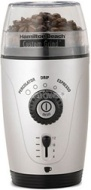 Hamilton Beach Custom Grind Hands-Free Coffee Grinder, Platinum, 80365