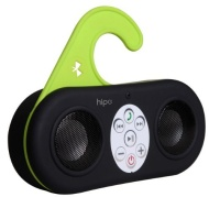 Hipe Waterproof Bluetooth Stereo Shower Speaker & Handsfree speakerphone For Streaming Audio and answering your Phone - Black - Compatible with iPhone
