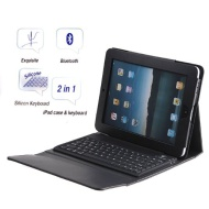 OEM - 2 in 1 Wireless Bluetooth Keyboard + Folding Leather Case For iPad