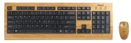 Micro Innovations Bamboo Keyboard and Optical Mouse (Keyboard - Cable - 104 - Mouse - Optical)